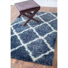 nuLOOM Soft and Plush Moroccan Trellis or Diamond Shag Rug (8' x 10') - Free Shipping Today - Overstock.com - 15180451 - Mobile