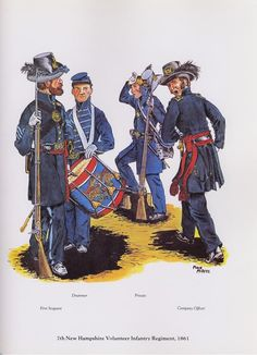 PLATES- CMH: 7th New Hampshire Volunteer Infantry Regiment, 1861, by Michael J. McAfee.