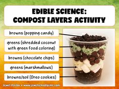 Earth Day Activities | Edible Science | Composting | Looking for fun Earth Day activities? Students learn about composting the fun way by using this PowerPoint resource. They will enjoy the Edible Science Activity even more! See them in Jewel Pastor's store on TeachersPayTeachers! | #EarthDayActivities #EdibleScience #Composting