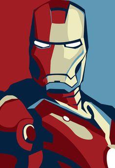 Iron Man póster Marvel héroe del cómic 34 x 24