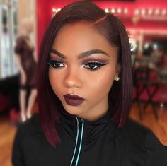 Love her hair but her makeup is on fleek