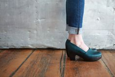 *new* Coclico for Mavenhaus Collective-Leather slip on, a-line clog with solid wood platform. #mavenhauscollective