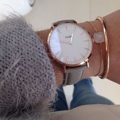 Rosegold Cluse watch