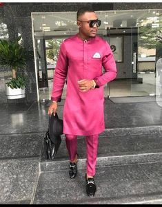 African fashion that looks stunning African Male Suits, African Attire For Men, African Shirts, African Wear, African Clothes, Nigerian Men Fashion, African Men Fashion, Africa Fashion, Mens Fashion