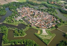 Magical fortified city in Holland: Naarden Vesting. I visited this site last year but never had the chance to see it from a birds eye view!