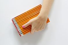 DIY Pencil Clutch - Get the tutorial at handsoccupied.com