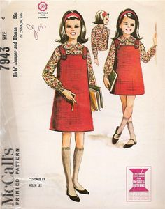 by Helen Lee, 1965 Childrens Sewing Patterns, Mccalls Patterns, Clothing Patterns, Vintage Dress Patterns, Vintage Dresses, Vintage Outfits, Vintage Clothing, 1960s Dresses, Vintage Wardrobe