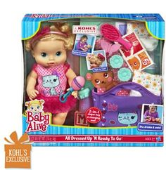 Kohl's: $19.99 For Baby Alive All Dressed Up 'N Ready To Go Doll (Reg. $49.99)
