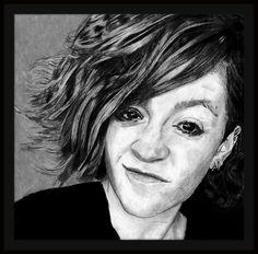 #Black and grey #prismacolor. #BlackandGrey #drawing #girl #smirk #smug #art