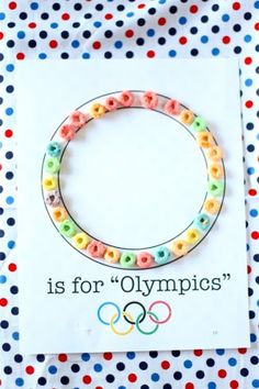 "O is for ""Olympics"" Craft (free printable) preschool olympics Preschool Projects, Preschool Lessons, Daycare Crafts, Preschool Activities, Crafts For Kids, Family Crafts, Class Projects, Alphabet Crafts, Letter A Crafts"
