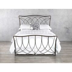 The Marin iron bed displays extraordinary attention to detail, recreating favored intricacies. The bed proposes security, tranquility, and respect. White Bedroom Furniture, Iron Furniture, Bedroom Decor, Furniture Sets, Furniture Outlet, Discount Furniture, Steel Bed Design, Steel Bed Frame, King Bed Frame