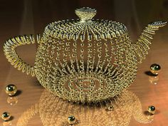 How to Make a Dazzling Golden Pearl Teapot... I'd have this teapot in my house.