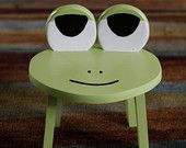 this little froggy stool just makes me smile! Perfect size for toddler rooms.