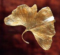 Silver Seasons - Michael Michaud - Gingko Large Leaf Pin $84