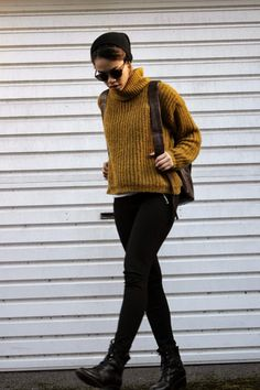 Lazy Obsession / #mustard #knit #ootd