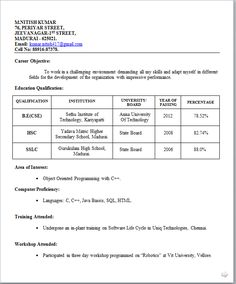 resume sample for freshers student httpwwwresumecareerinfo. Resume Example. Resume CV Cover Letter
