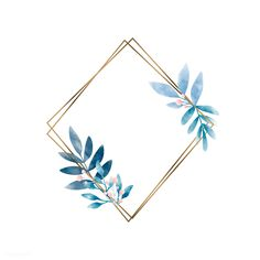 Geometric frame with leaves vector Cute Wallpaper Backgrounds, Flower Backgrounds, Cute Wallpapers, Iphone Wallpaper, Molduras Vintage, Framed Leaves, Graphic Design Pattern, Foto Baby, Leaves Vector