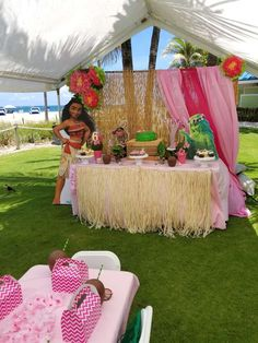 Pompano Beach Moana birthday party | CatchMyParty.com