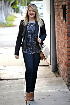 Deb Shops denim on blogger Envision Pretty