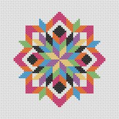 Cross Stitch PDF Pattern Quilt Block Easy Beginner