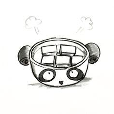 【一日一大熊猫】2014.10.2 豆腐の日。 湯豆腐って好き。 シンプルなのに何だかしみじみ感じる。 #豆腐 #湯豆腐 #パンダ #pandaJP