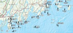 Lighthouse Maps - Illustrated guide maps to U.S. lighthouses