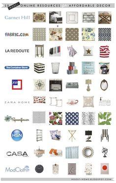 10 Resources for Affordable home | http://home-decor-inspirations.blogspot.com