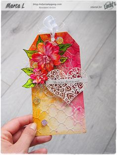 Hello & Hi Friends, it's Marta Lapkowskawith you today. I am back with another colourful project, this time, a mixed media tag. I must say I love creating tags. They are a great alterna…