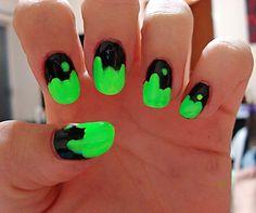 slime halloween nails