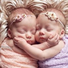 Twin girls! Such a beautiful photo I had to share.