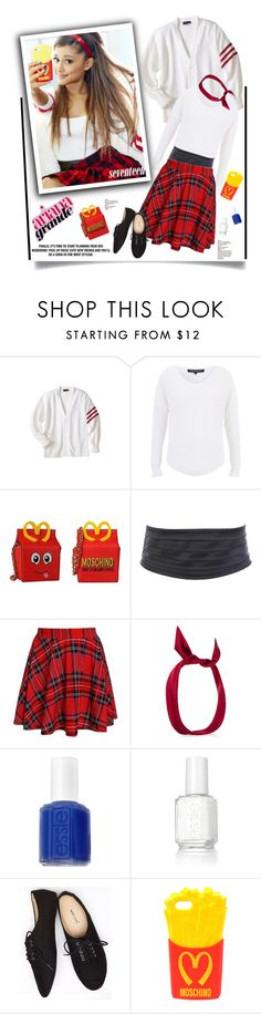 """Ariana Grande: Get The Look'"" by dianefantasy ❤ liked on Polyvore featuring French Connection, Moschino, yunotme, Essie, Wet Seal, women's clothing, women, female, woman and misses"