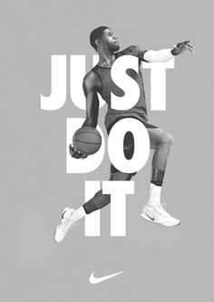 This nike poster has the triangle color. Very dull colors. And the basketball player in the middle showing what nike is about. Nike Poster, Jazz Poster, Sports Advertising, Creative Advertising, Advertising Poster, Advertising Design, Product Advertising, Advertising Ideas, Advertising Campaign