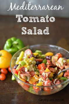 Mediterranean Tomato Salad & #BlakesPairing - a delicious salad with tomato, olive, and feta cheese.