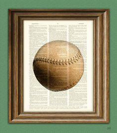 Baseball nursery art