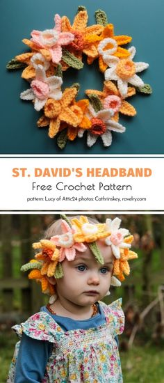 Crochet bouquets are not the only way to use your daffodils patterns, without a doubt! Buntings, wreaths, and headbands are great ideas as well. Every queen, no matter the age, would love wearing a DIY flower crown like this one by Cathrinskey. #crochetflower #crochetdaffodil #crochetdecor #crochetflowers #freecrochetpattern #crochetpattern Knit Or Crochet, Crochet Baby, Free Crochet, Crochet Bouquet, Crochet Flowers, Daffodil Day, Butterfly Flowers, Butterflies, Diy Flower Crown