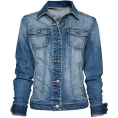 MANGO Distressed effect denim jacket ($80) ❤ liked on Polyvore featuring outerwear, jackets, tops, coats, coats & jackets, distressed jean jacket, cotton jean jacket, jean jacket, blue jackets and distressed jacket
