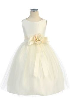 f47e87ee32 Vintage Satin and Tulle Dress  55  SK402 Available in Ivory