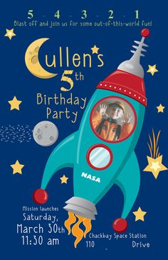 Astronaut / Outer Space Birthday Party Ideas