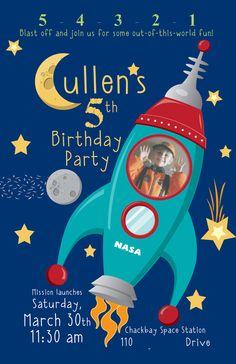Space Birthday Party Inspiration - Boy Birthday Party Ideas #nasabirthday #outerspacebirthday