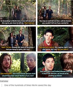 Loved this scene - Merlin was just SO DONE with both Arthur and Gwaine and their enormous sense of heroism