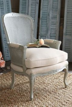 Sylvestre Chair from Soft Surroundings. I like the coloring and closet doors