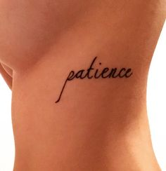 Newest member of my little tattoo family. Patience is the key to a long happy life
