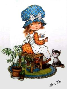 Qui était Mary May ? Holly Hobbie, Mary May, Gif Animé, Cute Illustration, Animals For Kids, Vintage Children, Cute Art, Cute Kids, Art For Kids