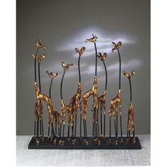 dessau home bronze giraffe family sculpture