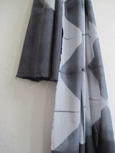 Squared shibori itajime scarf in 100 organic cotton. by byrios, $80.00
