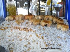 Turkish street food nohutlu pilavı (note: I wouldn't put brussel sprouts in it, but as she says in the blog, you can add whatever veggies you want)
