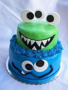 Monster Birthday cake from ElenisDesignHouse