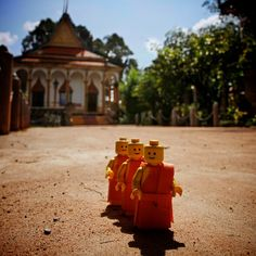Monk Trio #LEGO #minifig #Cambodia