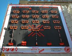 Giant Space Invader by Filthy Luker