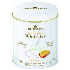 Bentley's Mango White Tea, 50 Count Tins (Pack of 2) (Grocery)